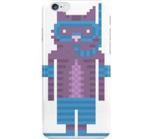 Snorkel Swimmer Cat Pixel Art iPhone Case/Skin