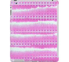 Hand-Painted Pink Watercolor Layers with Square Pattern iPad Case/Skin