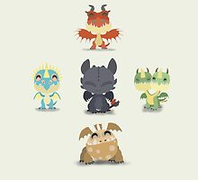 Baby Dragons How To Train Your Dragon 2 by thisisbrooke