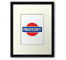 RB25DET Nissan Engine Framed Print