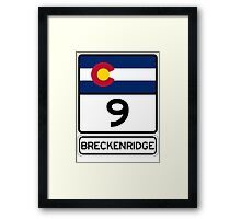 CO-9 Breckenridge Colorado Framed Print
