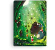 Totoro Christmas Card Canvas Print