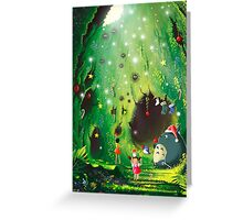 Totoro Christmas Card Greeting Card