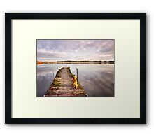 Jetty with a view Framed Print