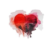 Watercolor heart by ulyanaandreeva