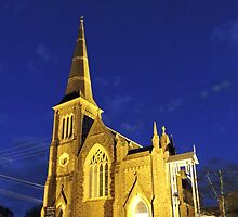 Night time church by DimondImages