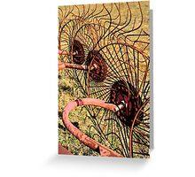 Hay Rake Greeting Card