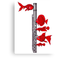 Fish and Flute Canvas Print