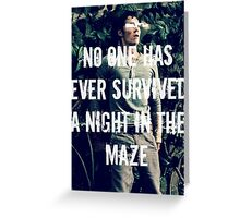 No One Has Ever Survived A Night In The Maze Greeting Card