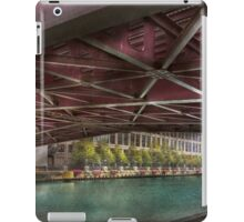 City - Chicago, IL - Underneath the William P Fahey Bridge  iPad Case/Skin
