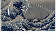 Hokusai Meets Fibonacci by SymbolGrafix