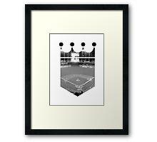 Kansas City Royals Stadium Black and White Framed Print