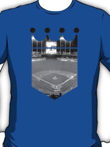 Kansas City Royals Stadium Black and White T-Shirt