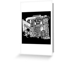 Survival Guide (white) Greeting Card