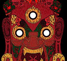 Red Demon for Shirt by Artsworth