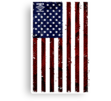 US Snakeskin Flag Canvas Print