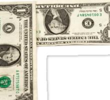 Question Mark of American Money Sticker
