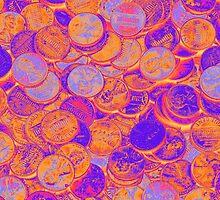 American Pennies Pop Art by KWJphotoart