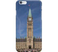 Center block of the Canadian Parliament - Ottawa, Ontario iPhone Case/Skin