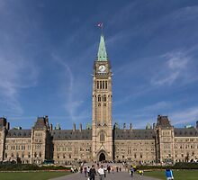 Center block of the Canadian Parliament - Ottawa, Ontario by Josef Pittner
