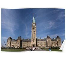 Center block of the Canadian Parliament - Ottawa, Ontario Poster