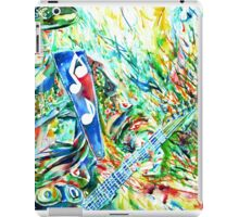 STEVIE RAY VAUGHAN PLAYING GUITAR WATERCOLOR PORTRAIT iPad Case/Skin
