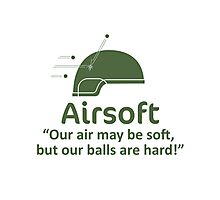 Airsoft - Soft air but hard balls Photographic Print