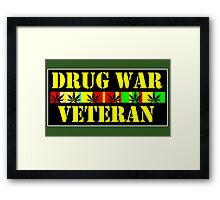 drug war veteran Framed Print