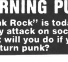 old punk rock ad Sticker