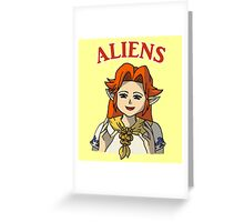 Romani Aliens Greeting Card
