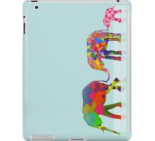 3 Colorful Elephants Holding Tails - Pop Art iPad Case/Skin