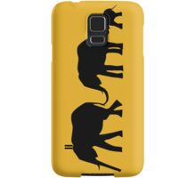 Silhouettes of 3 Elephants Holding Tails Samsung Galaxy Case/Skin
