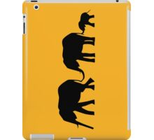 Silhouettes of 3 Elephants Holding Tails iPad Case/Skin