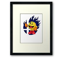 Smash Pac-Man Framed Print