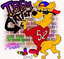 Retro Dog Artist by Feistydog