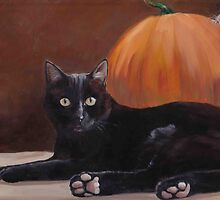 Sneak Peek Black Cat & Pumpkin by Charlotte Yealey