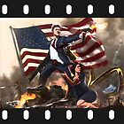 Bill Clinton & Monica Lewinsky Leg-Clench Movie Poster by TruthtoFiction