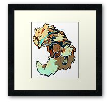 Fighting Arcanine  Framed Print