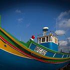 A boat on Gozo by Maciej Nadstazik