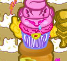 Majin's Chocolate Buu Cakes by RNDMIndustries