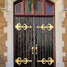 Fancy door of a church by henuly1