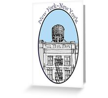 NYC-Water tower above SoHo building Greeting Card