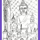 Thailand-Inside a Buddhist Wat * by James Lewis Hamilton
