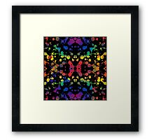 Rainbow Tears, Black Framed Print