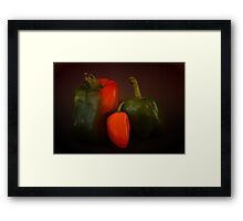 The Three Peppers Framed Print
