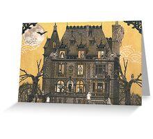 Moribund Manor - Haunted House Greeting Card