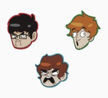 Team Lads Stickers by intr0spection