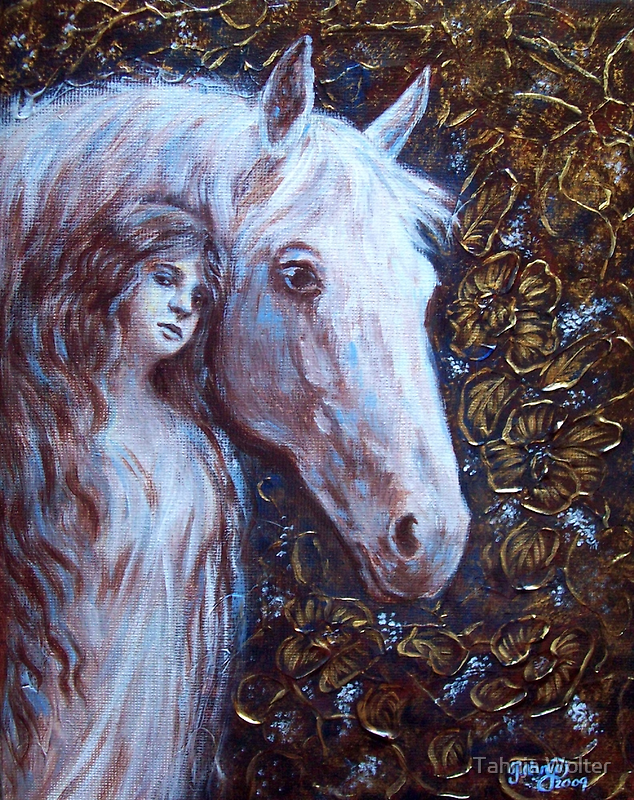 White Horse Beauty by Tahnja