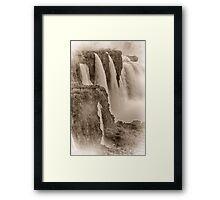 Iguaza Falls - No. 7 - Antique Sepia Framed Print