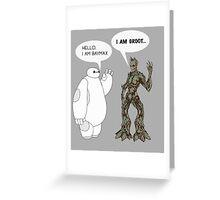 Baymax and Groot Greeting Card